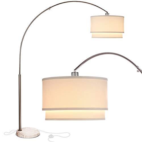 Brightech Mason – Arc Floor Lamp with Unique Hanging Drum Shade...