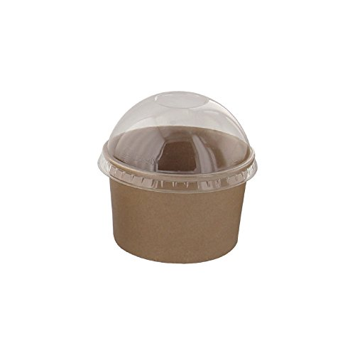PacknWood Kraft Paper To-Go Bucket Container , 6 oz. Capacity, Brown  (Case of 1000) by PacknWood