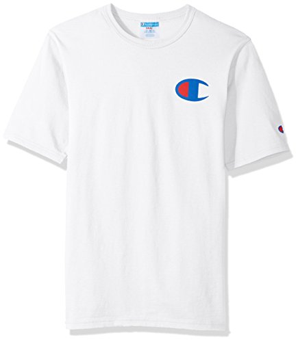 Champion LIFE Men's Heritage Tee, White/Patriotic 'C' Logo, L from Champion LIFE