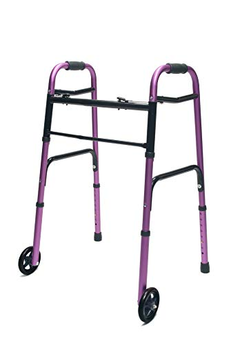 "Lumex ColorSelect Adult Walker with 5"" Wheels, Plum, 716270P-1"