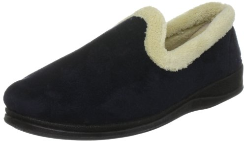 Padders Repose - Zapatillas de casa de tela para mujer Azul (Blau (Marineblau))