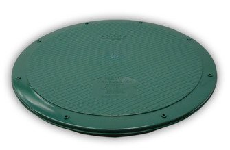 Polylok 3008-West 24'' Flat Septic Cover for Polylok Risers and Corrugated Pipe by Unknown