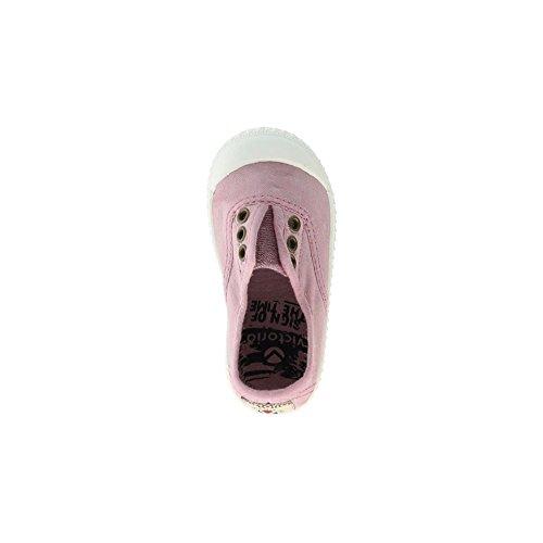 Victoria - Zapatillas de casa de tela para niños Rosa