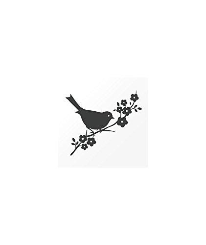 Tatuaje efímero para mujer. Diseño de pequeño pájaro negro: Amazon ...