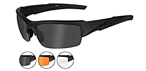 Wiley X Valor Tactical Black Matte Sunglasses 3 Lens Pack Grey Clear and Rust