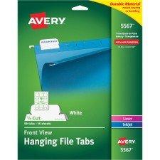 Avery Printable Hanging File Tabs-Hanging File Tabs,Laser/InkJet,1/5