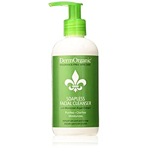 DermOrganic 70% Organic Soapless Facial Cleanser, 8.5 Fluid Ounce