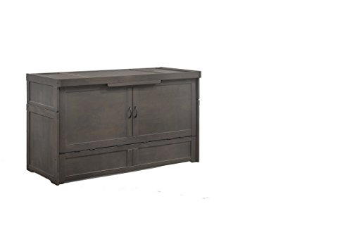 Night & Day Furniture MUR-CUB-QEN-STW-COM Murphy Cube, QUEEN, Stonewash