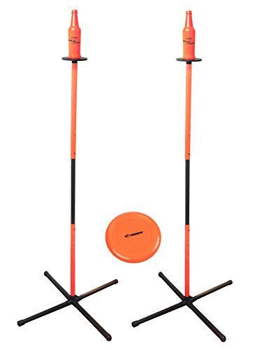 Triumph Toss N Topple Outdoor Backyard Game Includes All Accessories and Weighted Bases