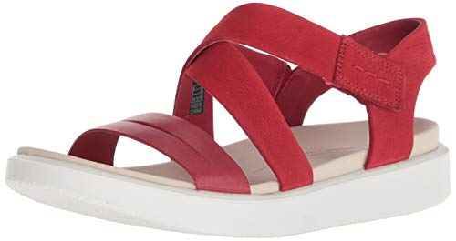 ECCO Women's Women's Flowt Cross Sandal Chili red, 39 M EU (8-8.5 US) from ECCO