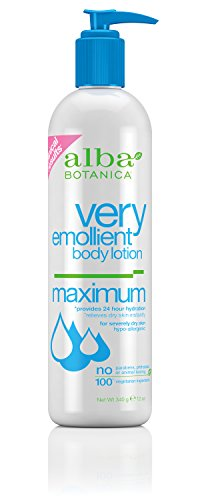 Alba Botanica Very Emollient, Maximum Body Lotion, 12 (Alpha Hydrating Body Lotion)