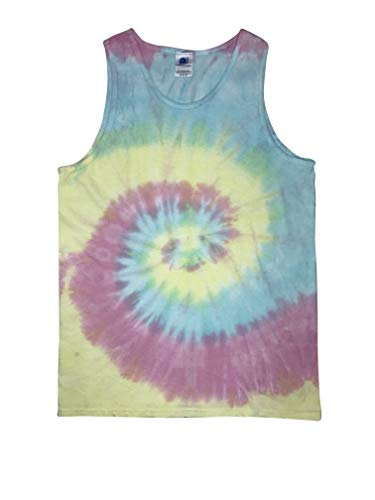 Colortone Tie Dye Tank Top 3X Jelly Bean