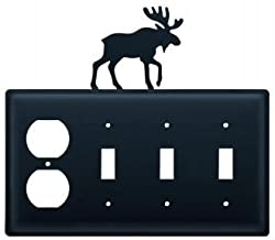 Eosss-19 Moose Single Outlet Triple Switch Electric Cover