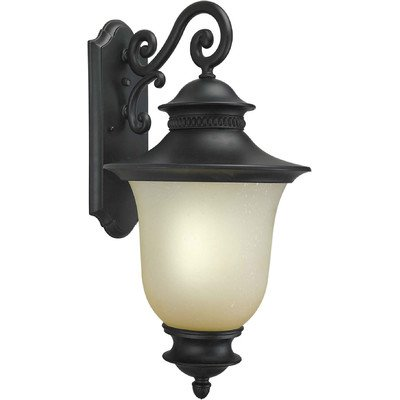 Forte Lighting 17001-01-04 Exterior Wall Light with Umber Seeded Glass Shades, (Energy Star Forte Lighting)