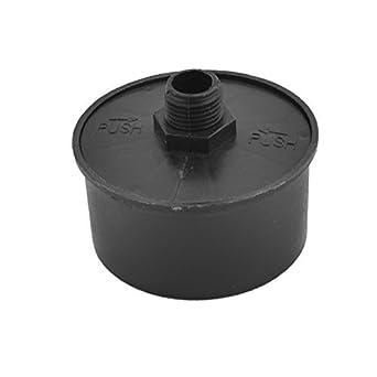 eDealMax plástico compresor de aire DE 16 mm Diámetro de la rosca de filtro Silenciador Negro: Amazon.com: Industrial & Scientific