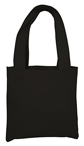 Non Woven Mini - 12 Pack- Non Woven Colorful Mini Gift Tote Bag Multipurpose Accessory Party Events Easter Art Craft (Black)