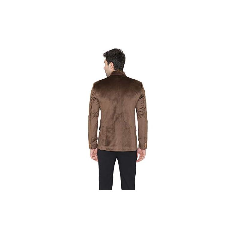 31RIBl9lShL. SS768  - WINTAGE Men's Velvet Grandad Nehru Blazer Coat Jacket