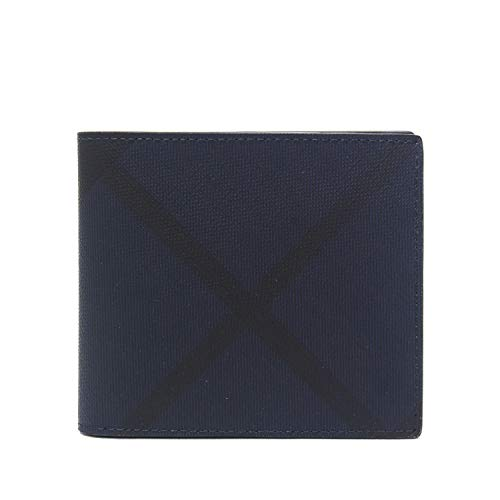 009f75137eb7 バーバリー)BURBERRY CC BILL COIN 二つ折り財布【NAVY/BLACK】8006029 ...