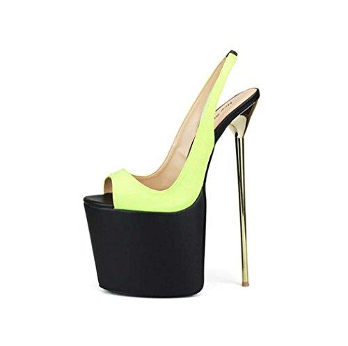 Zapatos Tac Peep Toe Sandalias Plataforma de para Mujer WpAxFX0