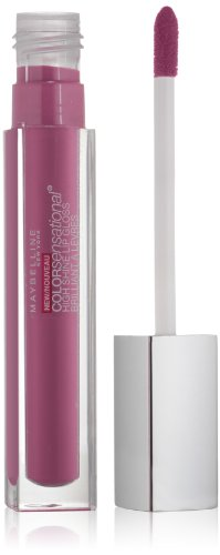 Mirror Shine Lip Gloss - Maybelline New York Color Sensational High Shine Gloss, Raspberry Reflections, 0.17 Fluid Ounce