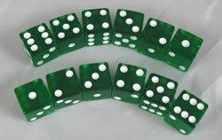 【スーパーセール】 Green Transparent Dice Standard Standard Dice D6 16mm B0038SNOO0 12 Dice B0038SNOO0, アップルケース:10efcf0e --- cliente.opweb0005.servidorwebfacil.com
