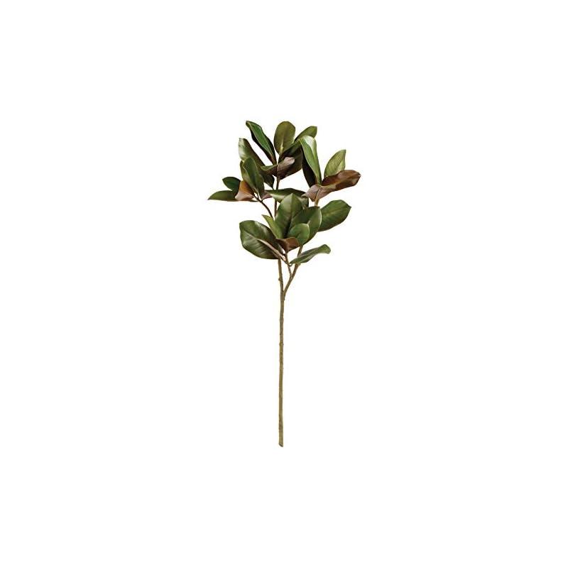 "silk flower arrangements napa home & garden magnolia leaf stem 42.5"""