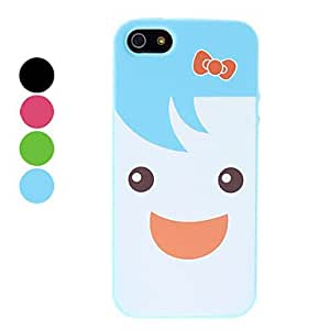 Cartoon Girl Pattern Durable Protective Soft Case for iPhone 5/5S (Assorted Colors) --- COLOR:Red