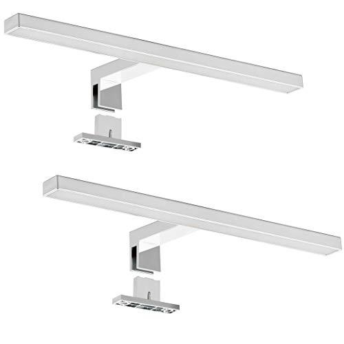 SEBSON® 2x LED Spiegellamp 30cm, Badkamer Verlichting IP44, Spiegelkast Lamp Neutraal Wit 4000K 5W, 400lm…