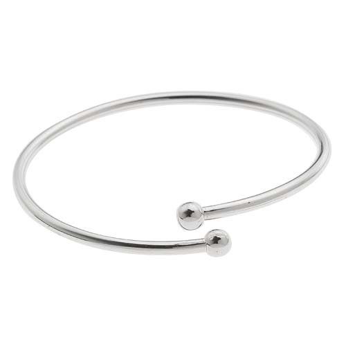Sterling Silver Flexible Bangle Cuff Bracelet For Europea...