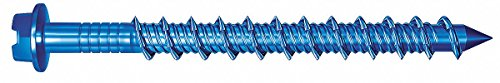 Red Head Hex Washer Slotted Concrete Screw, 1/4