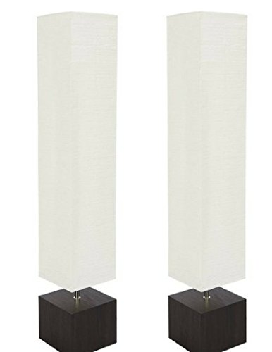 Mainstays 2 Sets of Floor Lamp Dark Wood Finish (Lamp Only) by Mainstay