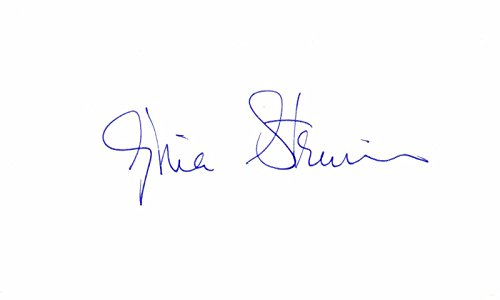 Gloria Steinem Signed - Autographed 3x5 inch Index Card - Feminist, journalist, author, and social political activist