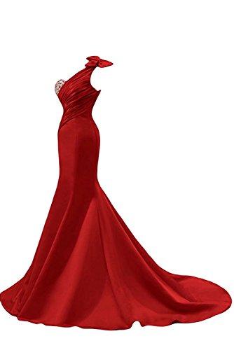 Femmes Une Balle Shouler Longue Robes De Bal Sirène Robe De Soirée Robe Rose Ainidress
