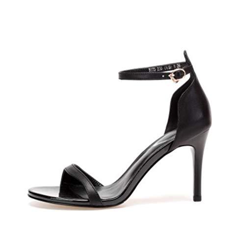Fish Sandalias Hebilla High Peeps Romeo De Hechas Ultimate Zapatos Liangxie Mujer Heels Moda Shoes Con Mano Negro Lady A Mouth Bien BnPHxPw