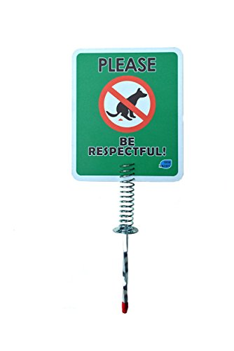 NEW & Improved - No Dog Poop Yard Sign | Please Be Respectfu