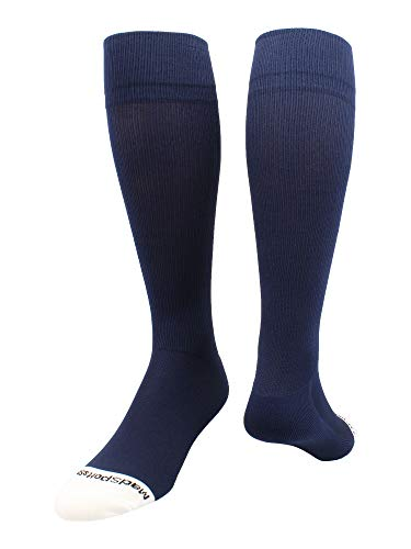 - MadSportsStuff Pro Line Over The Calf Baseball Socks (Navy, Medium)