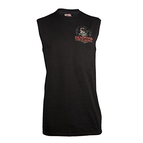 Harley-Davidson Deadwood Men's Dead Eye Jack Sleeveless T-Shirt (X-Large) ()