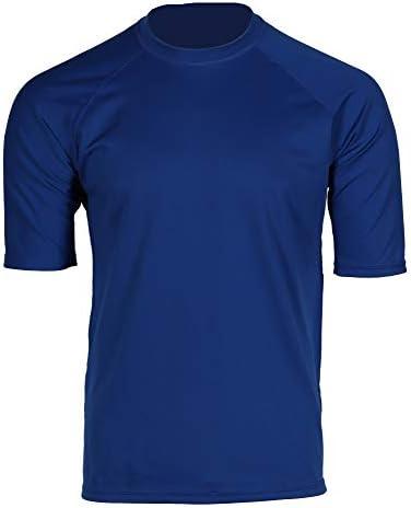 Men's Short Sleeve Water Resistant T-Shirt, UPF 50+ Sun Protection, Sun Block Shirt