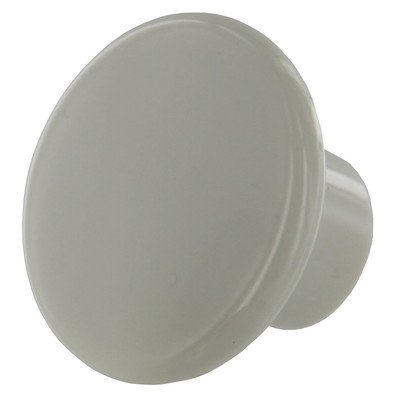 (Amerock BP802-PW Plain White Plastic Cabinet Knob - 1-1/4