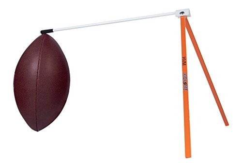 Kickoff! Football Holder — Football Place Holder Kicking Tee — Use with Foot ball Field Goal Post or Football Kicking Net (Orange and White)