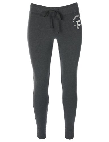 Abercrombie   Fitch - Pantalon de survêtement - coupe skinny - femme - gris  foncé - L  Amazon.fr  Vêtements et accessoires 32e37025650