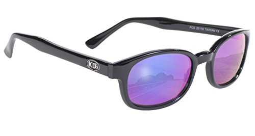 Pacific Coast Original KD's Biker Sunglasses (Black Frame/Colored Mirror Lens) (Sons Of Anarchy Jax Sunglasses)