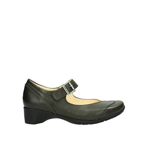Vert Wolky 20730 Opal Comfort Cuir Escarpins wOOqg0X