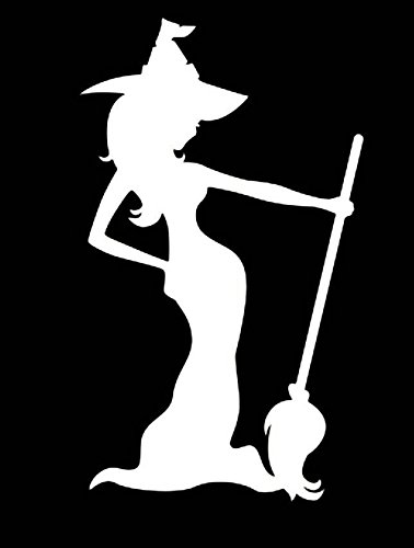 43SabrinaGill Flying Witch Decal Halloween Decor Witches Decor Pumpkin Wall Decal For Room Decor 21