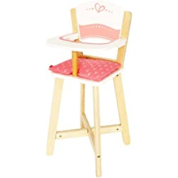 Hape Award Winning Babydoll Highchair Toddler Wooden Doll Play Furniture