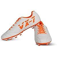 Vector X VX-7 Football Shoes for Men's (White-Orange)