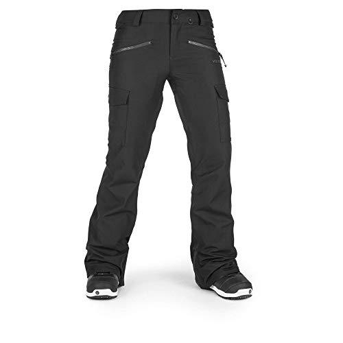 Volcom Women's Mira Stretch Slim Fit Snowpant, Black, Medium