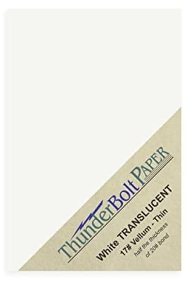 "100 Soft Off-White Translucent 17# Thin Sheets - 4.5"" X 6.25"" (4.5X6.25 Inches) Craft