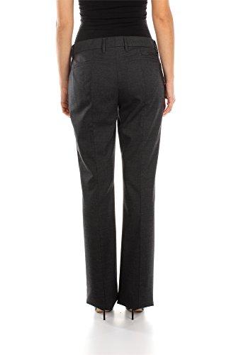 P2460GANTRACITE Prada Pantalones Mujer Lana Gris Gris