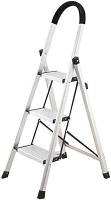 QQXX Escalera Plegable, Antideslizante, ensanchamiento, Conjunto, Equipo para el hogar, Simple, Escalera de 3 escalones y Doble Uso: Amazon.es: Hogar